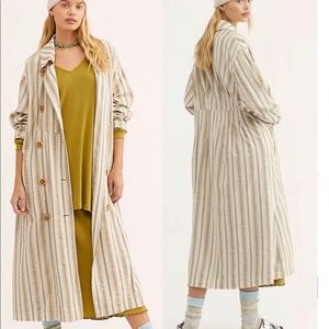 NWT Free People sweet Melody trench coat M